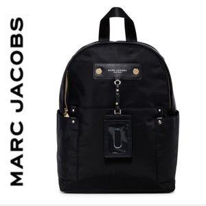 NWT Marc Jacobs large preppy backpack black